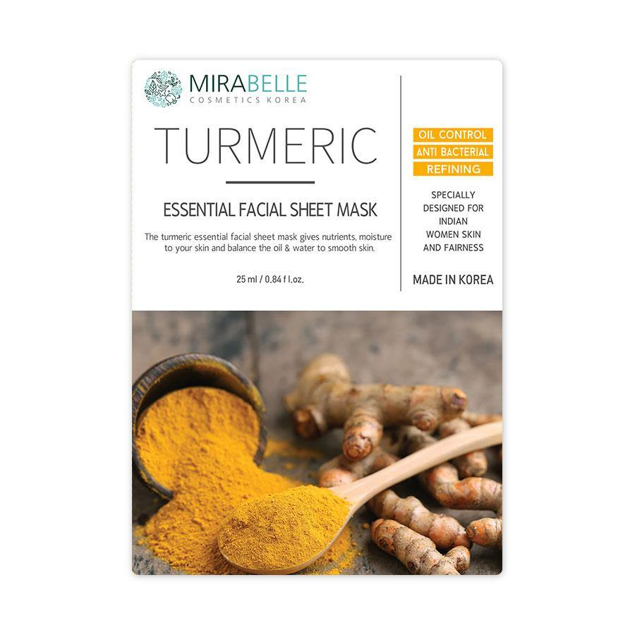 Mirabelle - Turmeric Essential Facial Sheet mask