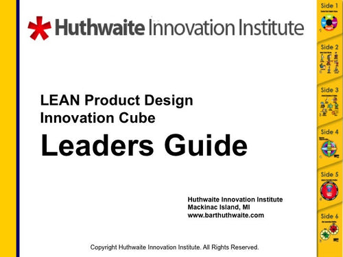 LEAN Product Development Cube Leader's Guide E-Book