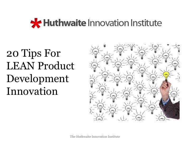 20 LEAN Product Development Innovation Tips E-Book