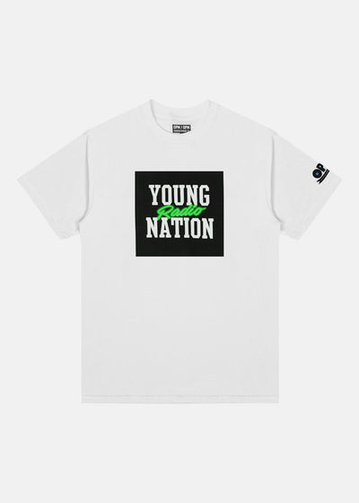 YOUNG NATION RADIO TEE (NEON GREEN)