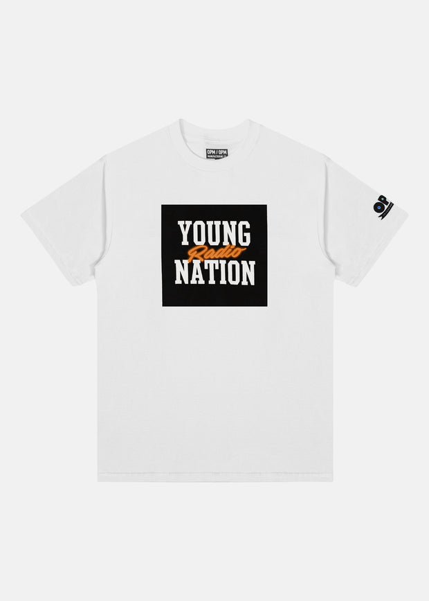 YOUNG NATION RADIO TEE (NEON ORANGE)