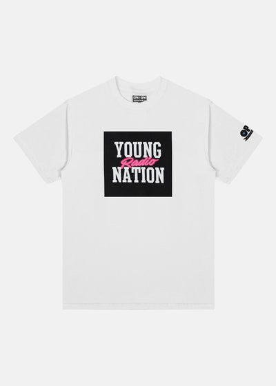 YOUNG NATION RADIO TEE (NEON PINK)