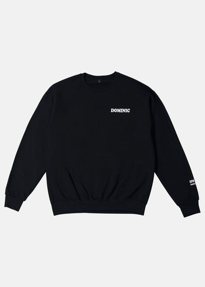 DOMINIC CREWNECK (BLACK)