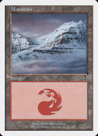 Mountain (338) [Seventh Edition] | Boutique FDB TCG