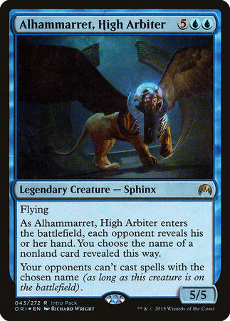 Alhammarret, High Arbiter [Magic Origins Promos] | Boutique FDB TCG