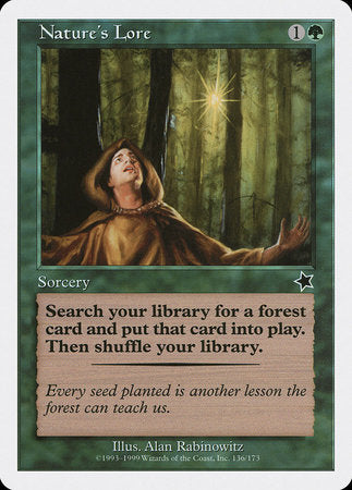 Nature's Lore [Starter 1999] | Boutique FDB TCG