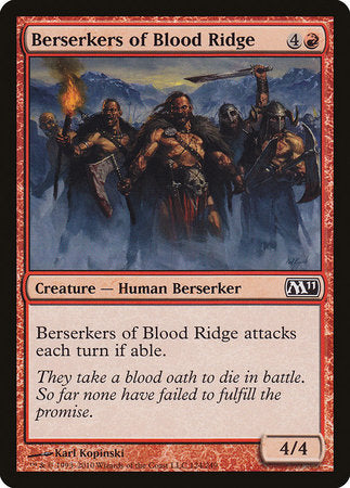 Berserkers of Blood Ridge [Magic 2011] | Boutique FDB TCG