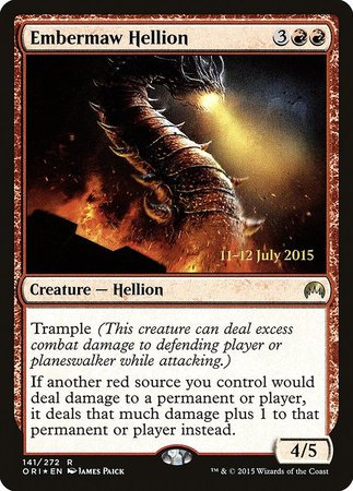 Embermaw Hellion [Magic Origins Promos] | Boutique FDB TCG