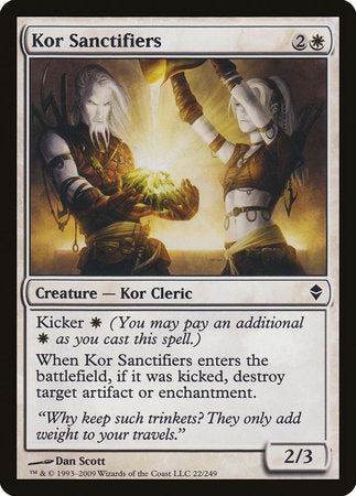 Kor Sanctifiers [Zendikar] | Boutique FDB TCG