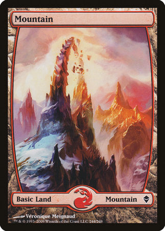 Mountain (244) - Full Art [Zendikar] | Boutique FDB TCG