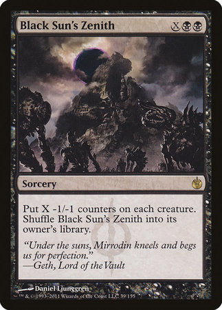 Black Sun's Zenith [Mirrodin Besieged] | Boutique FDB TCG