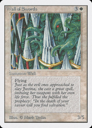 Wall of Swords [Unlimited Edition] | Boutique FDB TCG