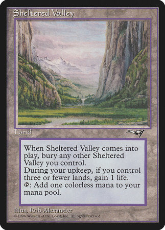 Sheltered Valley [Alliances] | Boutique FDB TCG