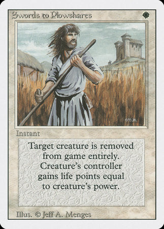Swords to Plowshares [Revised Edition] | Boutique FDB TCG