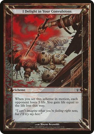 I Delight in Your Convulsions (Archenemy) [Archenemy Schemes] | Boutique FDB TCG