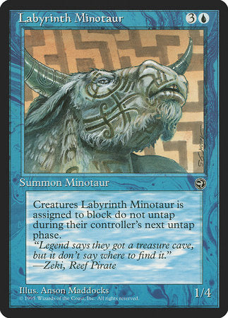 Labyrinth Minotaur [Version 2] [Homelands] | Boutique FDB TCG