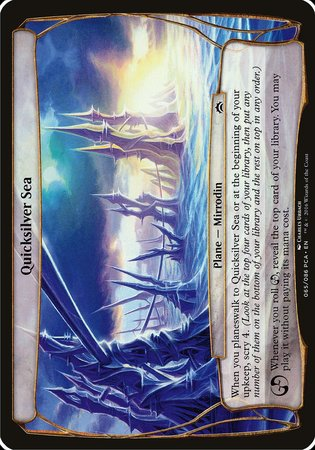 Quicksilver Sea (Planechase Anthology) [Planechase Anthology Planes] | Boutique FDB TCG
