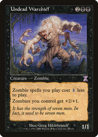 Undead Warchief [Time Spiral Timeshifted] | Boutique FDB TCG