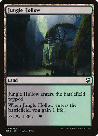 Jungle Hollow [Commander 2018] | Boutique FDB TCG
