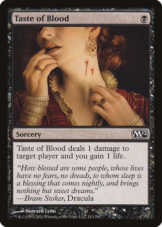 Taste of Blood [Magic 2012] | Boutique FDB TCG