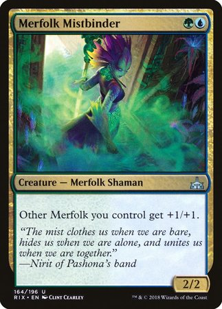 Merfolk Mistbinder [Rivals of Ixalan] | Boutique FDB TCG