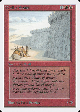 Wall of Stone [Unlimited Edition] | Boutique FDB TCG