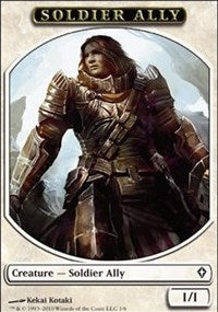 Soldier Ally Token [Worldwake Tokens] | Boutique FDB TCG