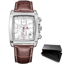 Load image into Gallery viewer, Men's chronograph leather band watch