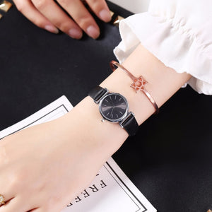 Hot Sale Women Leather Mini Design Quartz Watches