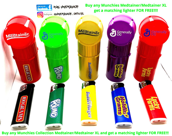 MUNCHIES MEDTAINER COLLECTION FREE LIGHTER WITH ANY MUNCHIES PURCHASE