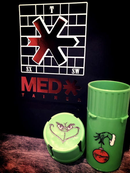 GRINCH XMAS MEDTAINER