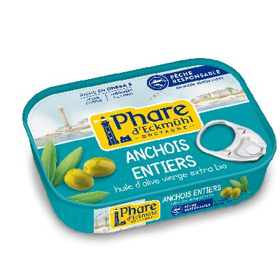 ANCHOIS ENTIERS HUILE OLIVE BIO 115G