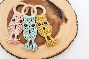 OWL TEETHER | Citron ONLY