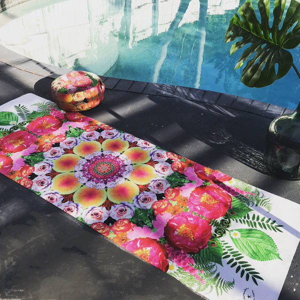 Rose Mandala Yoga Travel Mat