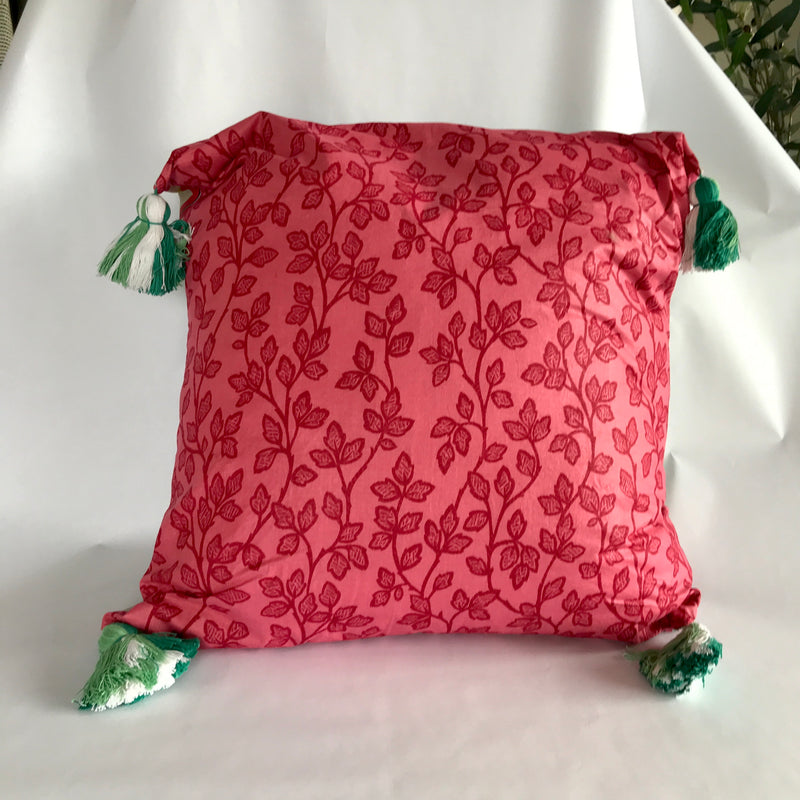 Tropical Pink Big Boho Pillow