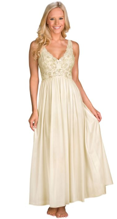 Margaret Lawton's Lace-Bodice Ankle Length Nightgown