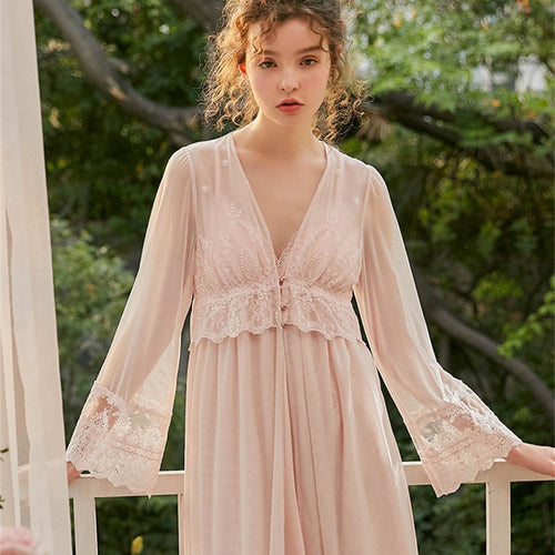 Margaret Lawton Pretty Embroidered Lace Dressing Gown