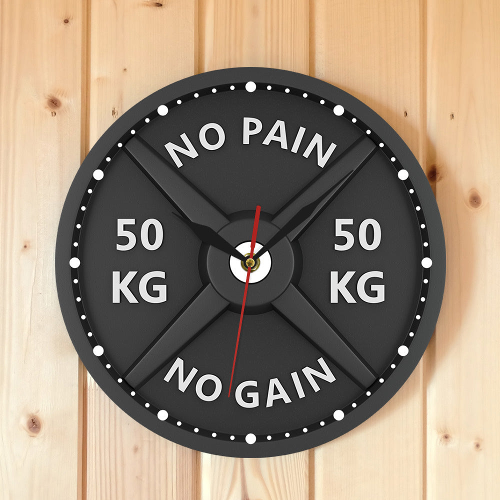 Dumbbell wall clock