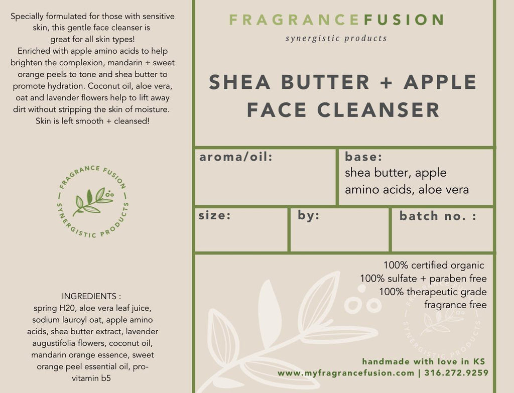 SHEA BUTTER + APPLE FACE CLEANSER