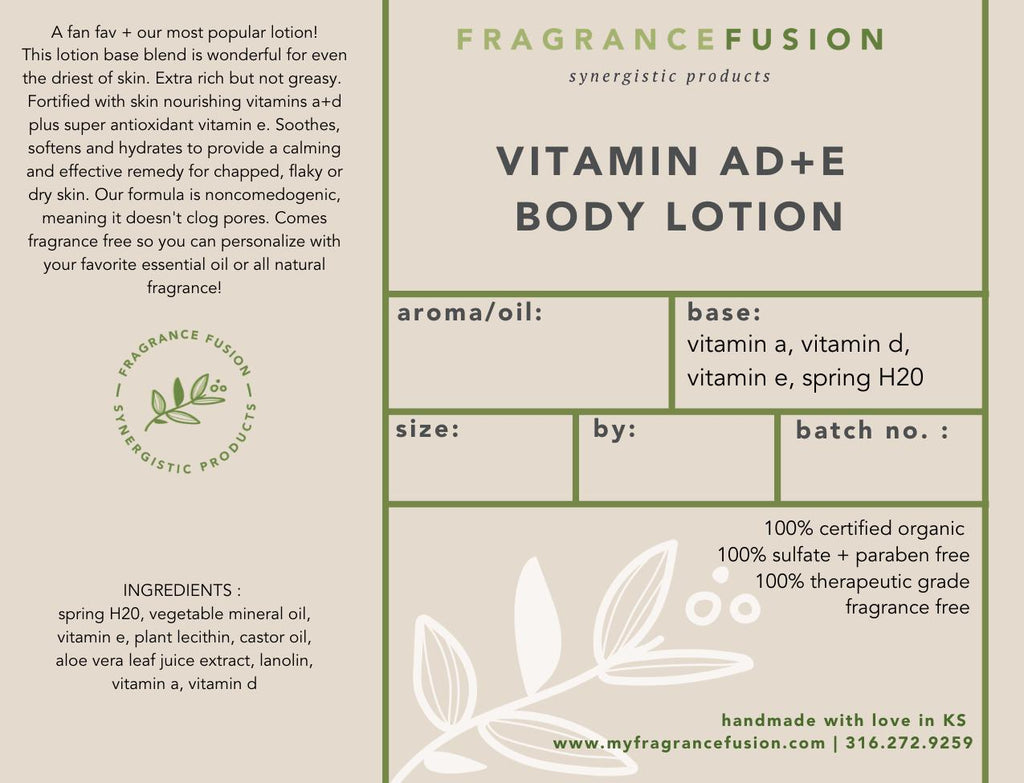 VITAMIN AD+E LOTION