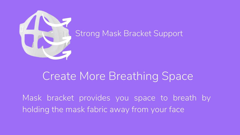 "Face Mask Bracket 10 Pack - Silicone Mask Bracket for Improved Breathability and Mask Cup Insert for a Lipstick Protective Face Mask 3.94"" x 3.35"" Compatible with Most Masks - Washable and Reusable (AS SOLD ON AMAZON)"