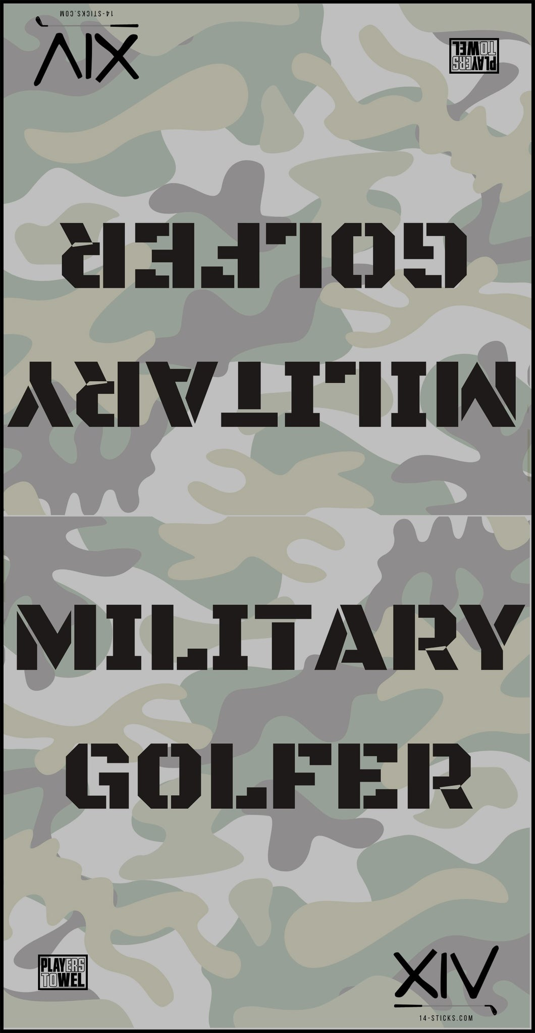 Military Golfer Towel
