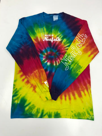 "Made In Norfolk Apparel Classic Logo ""Tye Dye"" LS"