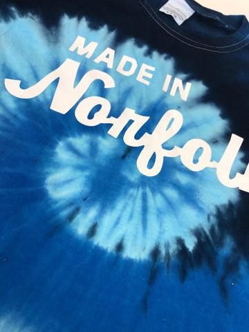 "Made In Norfolk Apparel Classic Logo ""Tye Dye"" SS Tees"