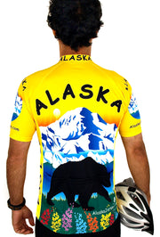 Alaska Bear Cycling Jersey - Free Spirit Wear Bike Jerseys