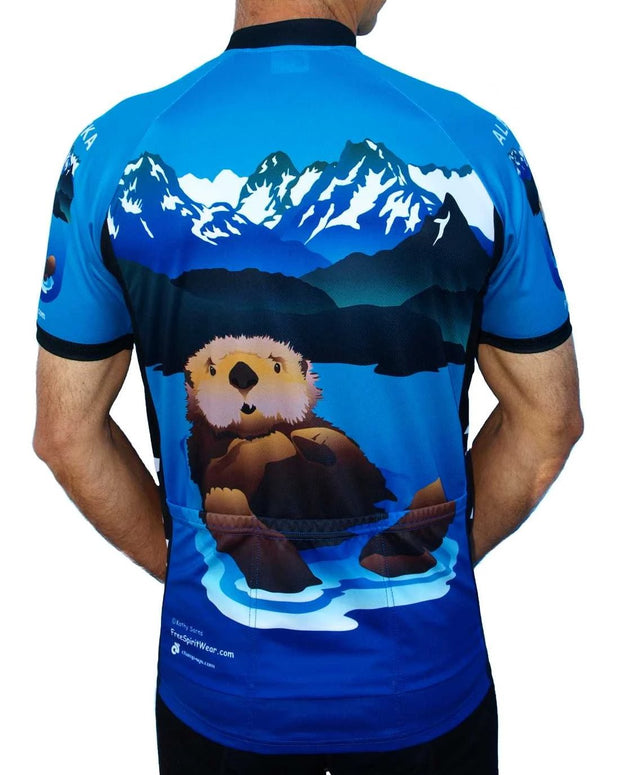 Alaska Otter Cycling Jersey - Free Spirit Bike Jerseys