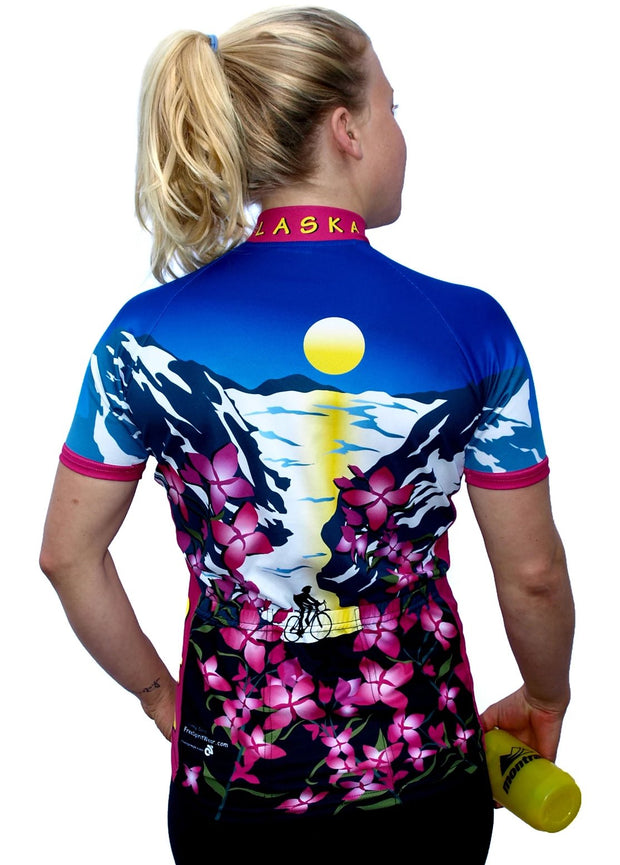 Womens Alaska Fireweed Jersey - Free Spirit Wear Bike Jerseys