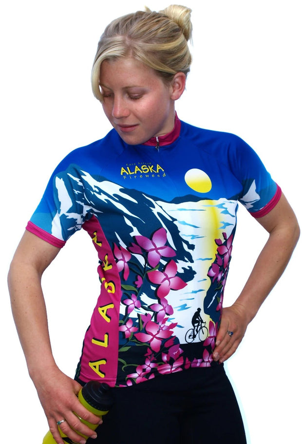 Womens Alaska Fireweed Jersey - Free Spirit Bike Jerseys