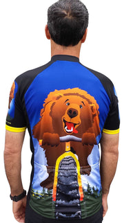Bear on Bike Jersey - Wordless - Free Spirit Wear Bike Jerseys