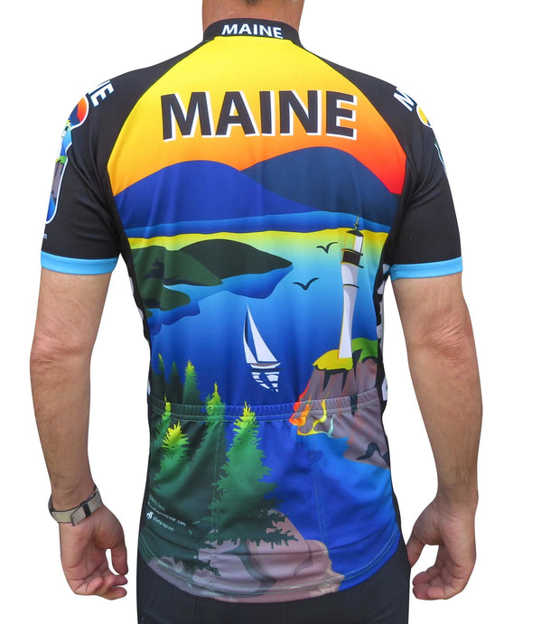 Maine Cycling Jersey - Free Spirit Bike Jerseys